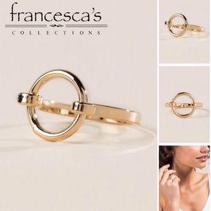 Francesca's Marrow Metal Ring